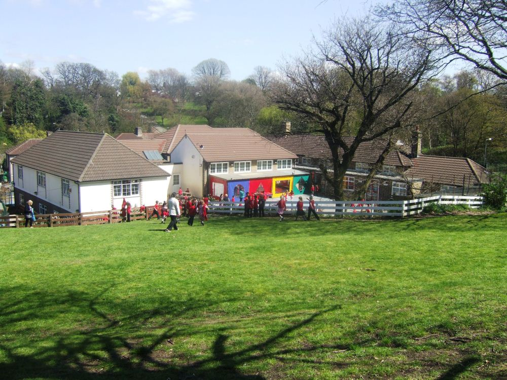 Thorntree Primary school from the field